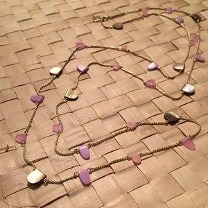 Kendra Scott Jewelry - KENDRA SCOTT LEOLA NECKLACE GOLD BLUSH MIX